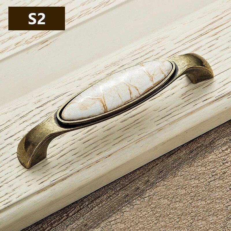 marble pattern ceramic vintage door handles kitchen cabinet handles