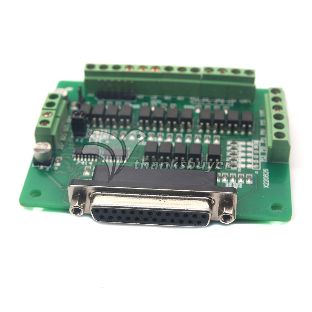 CNC 6 Axis DB25 Breakout Board Interface Adapter MACH3 KCAM4 EMC2 DB25 Cable CNC
