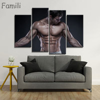 4pcs Superstar Fitness Bodybuilding Poster Fabric Silk Black And White Poster Print Great Pictures On The