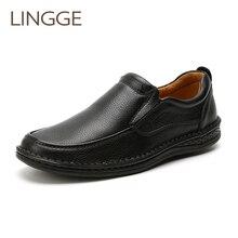 LINGGE/брендовые черные лоферы; натуральная кожа; светильник; женская обувь для мужчин на шнуровке классического размера плюс; Мужская обувь; MD Sole