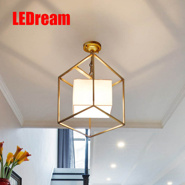 Small Village Square Pendant Lamp Corridor Restaurant Cloth Art, Wrought  Iron Lamps And Lanterns