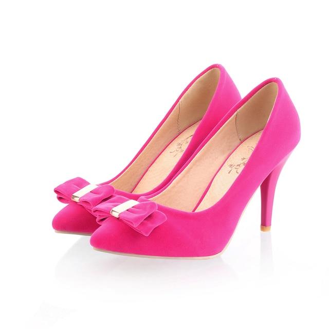 60cfa0c793 Brand New Hot Elegant Black Rose High Cone Heels Women Glamour Pumps Ladies Nude  Shoes AD-2 Bowtie Big Size 4.5 10 43