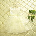 [Aamina] princesa de encaje Blanco vestido de verano 2016 de algodón de los cabritos para las muchachas ropa, ropa de los niños al por mayor 5 unids/lote 2101318