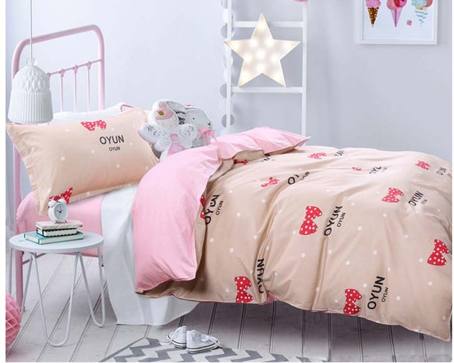 Bon 100% Cotton Twin Size Girls/boys 3pcs Bedding Se Bed Linen Kids Duvet Cover