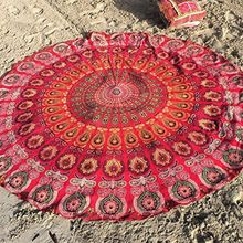 Peacock Bedding Outlet Round Beach Towel Fire Mandala Chiffon Beach Swim Towels Bohemia Bain Para Playa Toallas