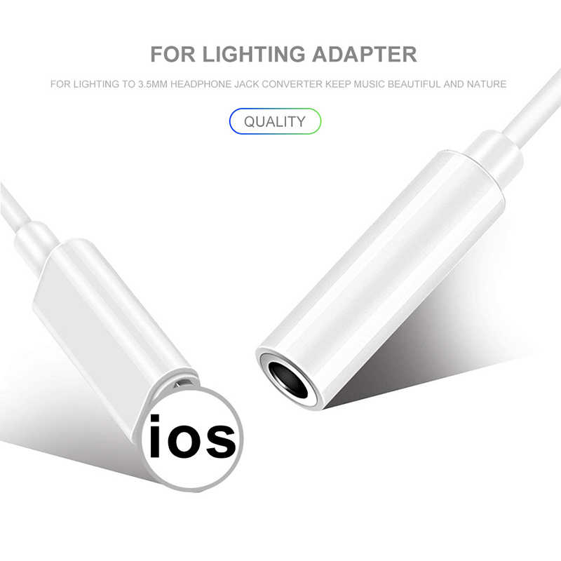 Wtyczka słuchawkowa kabel IOS 11 12 Adapter słuchawek do iPhone 7 8 X żeńskie do 3.5mm męskie adaptery Adapter AUX do błyskawicy