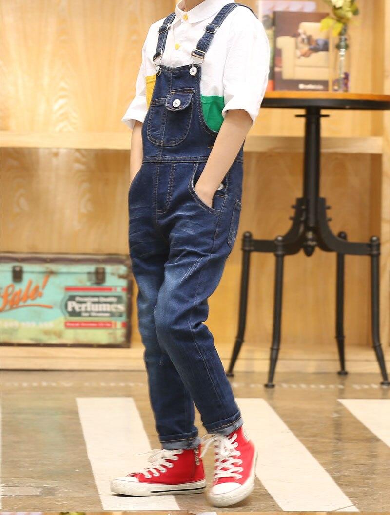 Image 2 - 2020 Boy Overall Kids Denim Jumpsuit Children Overalls Jeans Spring Girls Autumn Boys Jeans Pants Cowboy Pockets Outwears 2 15Tkids denim jumpsuitchildren overallsdenim jumpsuit kids -