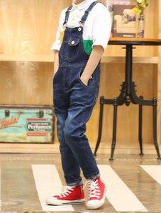 Image 2 - 2020 junge Insgesamt Kinder Denim Overall Kinder Overalls Jeans Frühling Mädchen Herbst Jungen Jeans Hosen Cowboy Taschen Outwears 2 15T