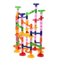 105Pcs Set Tunnel Blocks Toy Kids DIY Assembly Beads Ball Race Track Maze Pipe Building Blocks
