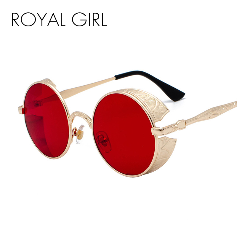 Round Sunglasses Steampunk Royal-Girl Gothic Eyewear Mirrored Retro Vintage Women Ss416