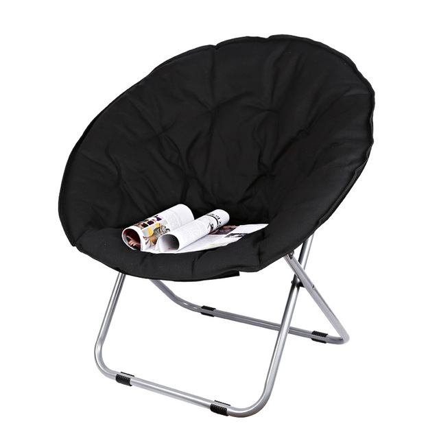 Large Size Moon Folding Chair Portable Couch Lazy Chair for Adult Soft Oxford Cloth Cushion Seat Office Chair Strong Bearing