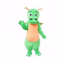 Cosplaydiy Custom Made Peluche Drago Verde Mascotte Costume Adulto Mascotte per Natale L0713