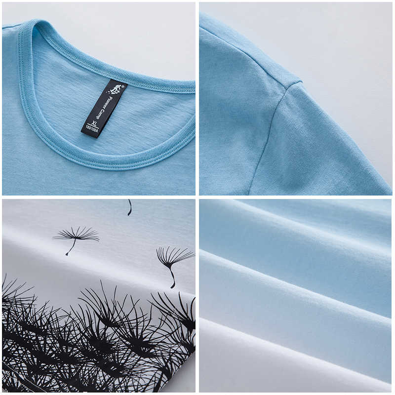 パイオニアキャンプファッション勾配 tシャツ男性ブランド服新デザインの夏の tシャツ男性トップ品質綿 100% Tシャツ ADT702188