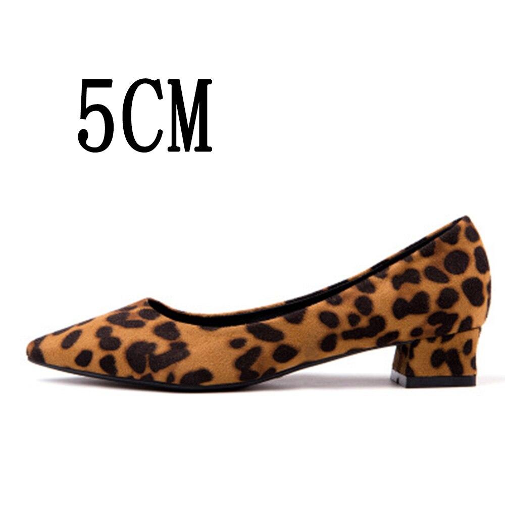 Thin 5cm Orteil Cm Pionted 5cmleopard leopard 2018 New Sexy 3cmleopard Robe 3 leopard Casual De Confortables Femmes thin Talons 3cm Haute 5 Chaussures Weiqiaona Pompe Léopard Travail HSqw8xwP