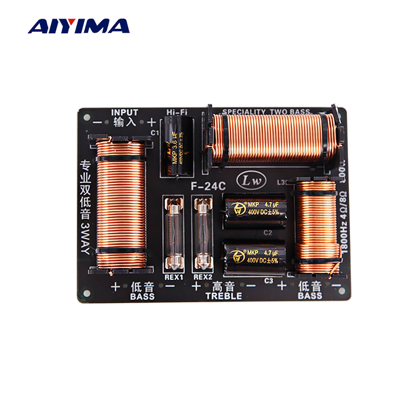 Aiyima 1PC 800W 2 Way Audio Speaker Frequency Divider Hi-Fi Treble Dual Bass Crossover Speaker Professional Filter 15Inch 4-8Ohm