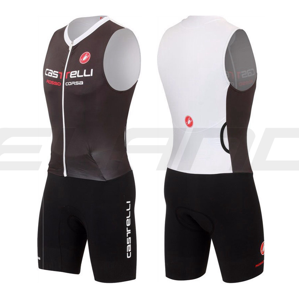 ФОТО New 2017 White Sleeveless Cycling Skinsuit Men's Triathlon Sports Clothing Cycling Clothing Set Ropa De Ciclismo Maillot