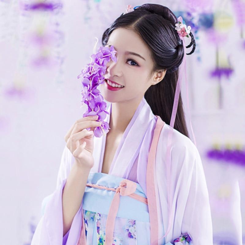 Mits Klassieke Vrouwen Hanfu Chinese Dans Kostuum Zangers Traditionele Prestaties Kleding Folk Jurk Oosterse Festival Outfit Dc1861