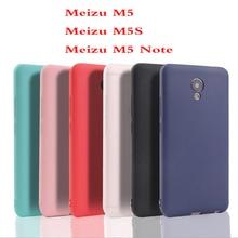 Funda de 5S Ricestate para Meizu M Meizu M5S M5 Note Soft case para Meizu M5 M5S Note cubierta protectora de silicona de colores claros y sólidos