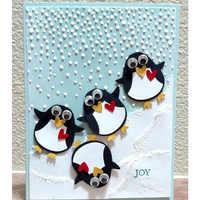 1 piezas pingüino Animal de corte muere Scrapbooking muere de Metal en relieve sellos y morir para hacer la tarjeta