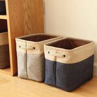2017 New Hot Non Woven Fabric Folding Storage Bag Box Basket Organizer Kids Toys Dirty Clothes