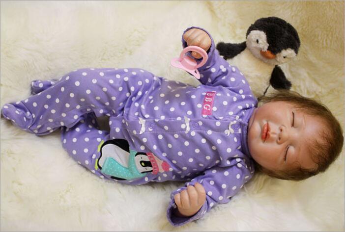Latest 50cm Hot sale Cheap Dollar Bebe Reborn Lifelike Newborn Baby Bonecas Bebe kid Toy Cute Girl Silicone Reborn Baby Gifts in Dolls from Toys Hobbies