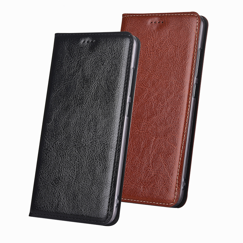 Luxury Phone Case Cover For Huawei Honor 6X Case Genuine Leather Flip Stand Card Design Phone Cover