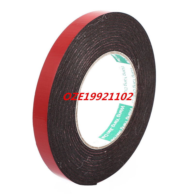15mm x 2mm Dual Sided Self Adhesive Shockproof Sponge Foam Tape 5M Length 2pcs 2 5x 1cm single sided self adhesive shockproof sponge foam tape 2m length