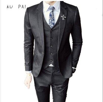 2017 Herbst Herren Business Casual Blazer Bräutigam Hochzeit Business Koreanische Version Der Anzug Jacke Schlank Britischen Typ A Kleine Buck