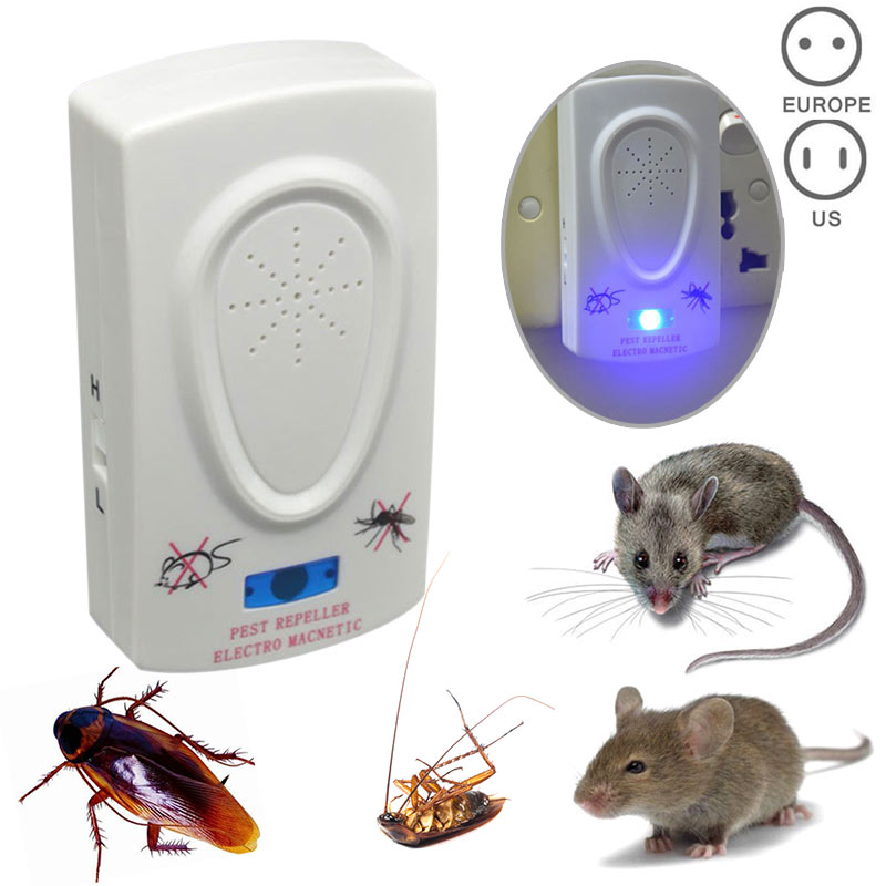 2018 US Plug Electronic Ultrasonic Rat Mouse Repellent Anti Mosquito Repeller killer Rod ...