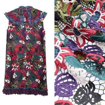 Tela encaje colores, soluble en agua, bordado, telas por metros, tissu, au...