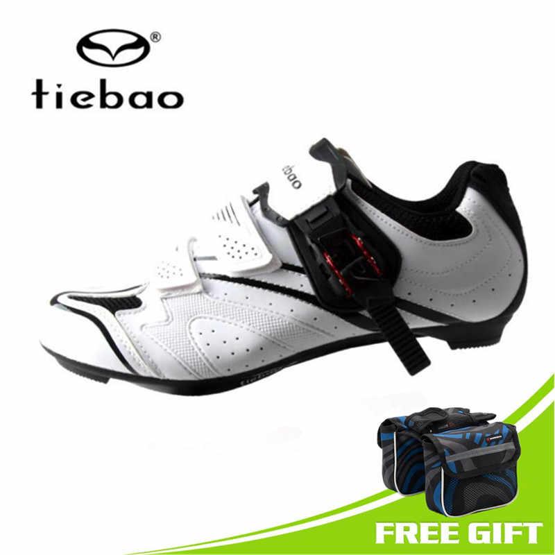 Tiebao off Road Ciclismo Zapatos blancos hombres zapatillas Mujer Deporte al aire libre bicicleta auto-bloqueo zapatillas bicicleta Ciclismo