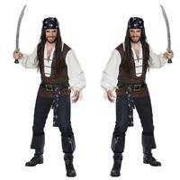 Halloween Menswear pirate costume characters Caribbean pirate costume cosplay costume