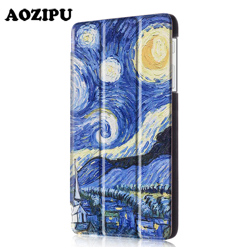 где купить Fashion Print Funda Case for Huawei MediaPad T1 7.0 T1-701u 7inch Tablet PU Leather + Plastic Shell Protective Stand Cover дешево