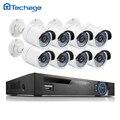 Techage Full HD 8CH NVR 1080 P POE Комплект 8 ШТ. 2.0MP Открытый водонепроницаемый ИК-Камера IP P2P Безопасности CCTV Система ВИДЕОНАБЛЮДЕНИЯ Комплект