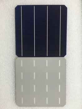 100Pcs 4.98W 0.5V 20.4% Effciency Grade A 156 * 156MM Célula Solar Monocristalina Fotovoltaica Monocristalina 6x6 Para Painel Solar 1