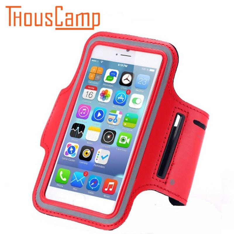Водонепроницаемый Бег руку с мобильного телефона чехол iPhone 7 6 6 S Plus SE 5 5C 5S 4 4S упражнения сумка для фитнеса