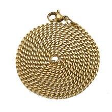 Цепочка Из Нержавеющей Стали золотого и серебряного цвета кубинская