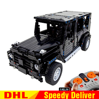 LP Technic 20090 MOC Jeep Wrangler Rubicon RC 20100 G500 AWD Wagon RC Motor Compatible Legoing 5140 2425 Blocks Brick