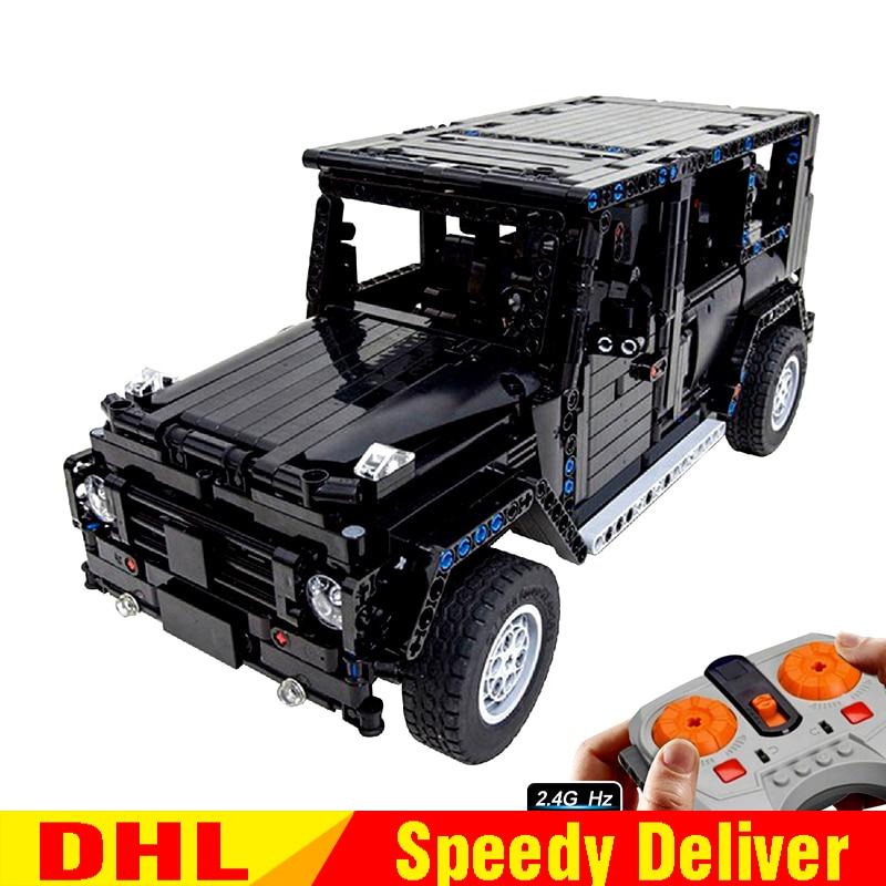 LP Technic 20090 MOC Jeep Wrangler Rubicon RC 20100 G500 AWD Wagon RC Motor Compatible Legoing 5140 2425 Blocks Brick