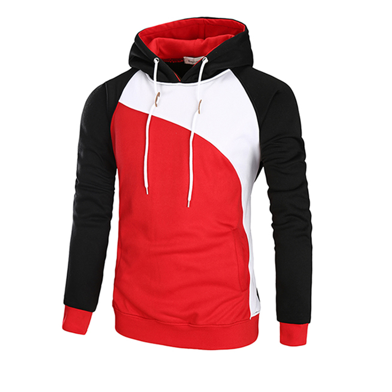 Men autumn Fashion 3 color patchwork Hoodies 2017 New style tops Brand Hoodie Men polyester popular Men 39 s Hoody size add M 3XL in Hoodies amp Sweatshirts from Men 39 s Clothing