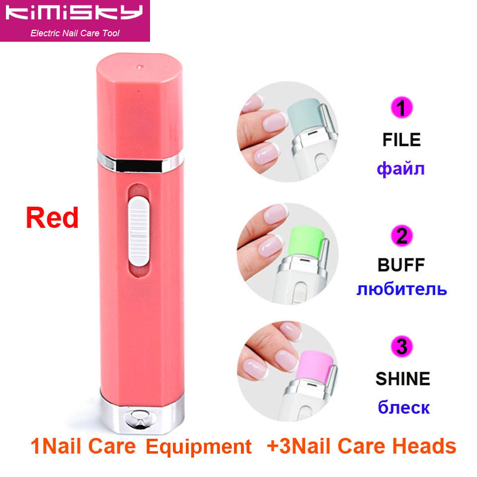 ツ)_/¯RED New Nail Lips Shape Electric Nail Art Tools Nail Equipment ...
