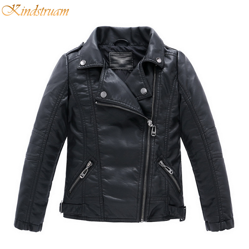 2017 New Boys Faux Leather Jackets European and American Style Children Fashion Coats Girls Outerwear Spring & Autumn, HC351