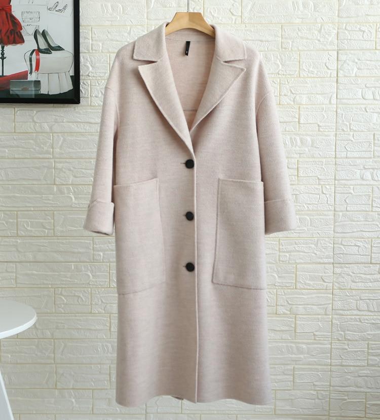 Femmes Dessigner Longue D'hiver Smog Conception De pink Survêtement Nouveau Qualité Haute Mode Laine Manteau White Blue 2018 0wr0F