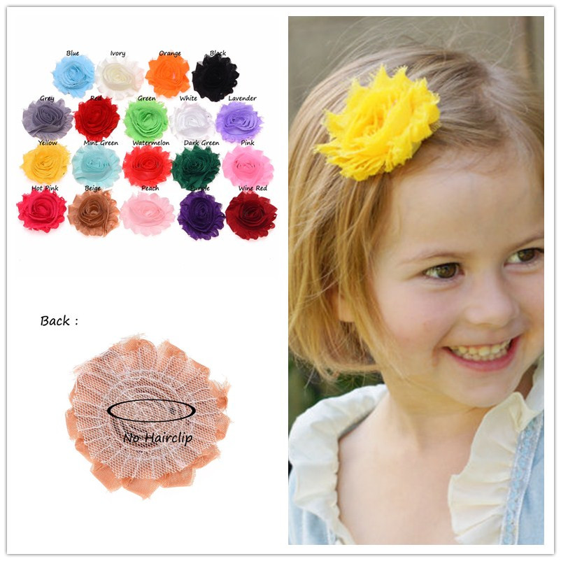 19PCS Shabby Chic Flowers Artificial Rose Flower Bouquet  S Hair Accessories Diy Flowers For Headband