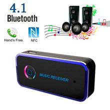 New!!Universal Wireless Car Bluetooth Aux Audio Receiver Adapter Bluetooth 4.1 3.5MM Bluetooth Handsfree Stereo Music Receiver 8
