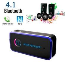 New! Универсальный Беспроводной Bluetooth Автомобиля Aux Аудио Приемник Bluetooth Адаптер 4.1 3.5 ММ Bluetooth Handsfree Стерео Музыку Приемника 8