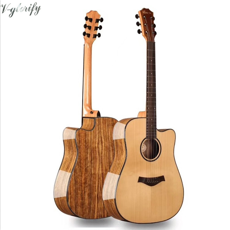 Good Acoustic Electric Guitars : d shape 41inch good quality acoustic electric guitar with solid wood top in guitar from sports ~ Russianpoet.info Haus und Dekorationen
