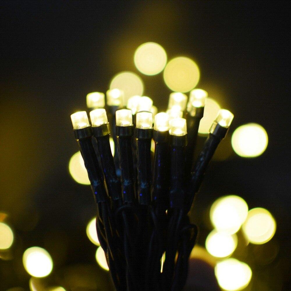 Warm White Led Solar String Lights 200 LED Bulb Holiday Party Lights Outdoor Garden Decoration Solar Fairy Patio Lamp ALUVEE
