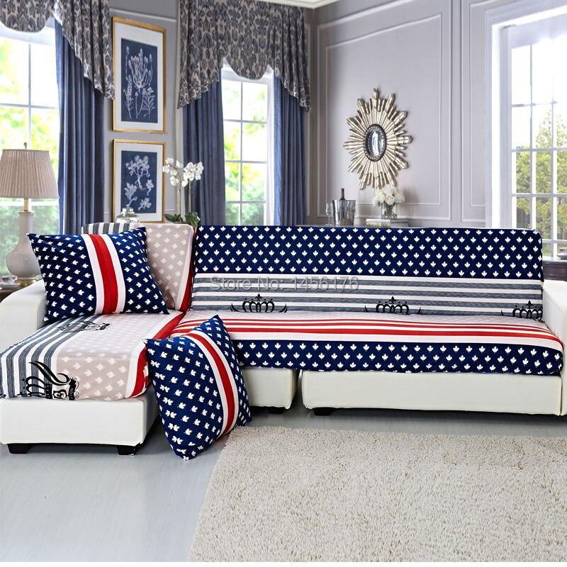 Aliexpresscom Buy Fabric sofa cover the American flag pattern