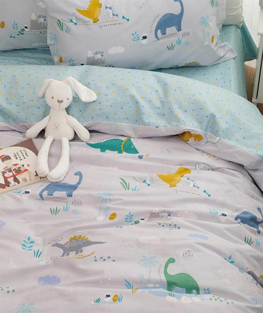 Aliexpress Com Buy Cartoon Dinosaur Cotton Bedding Set